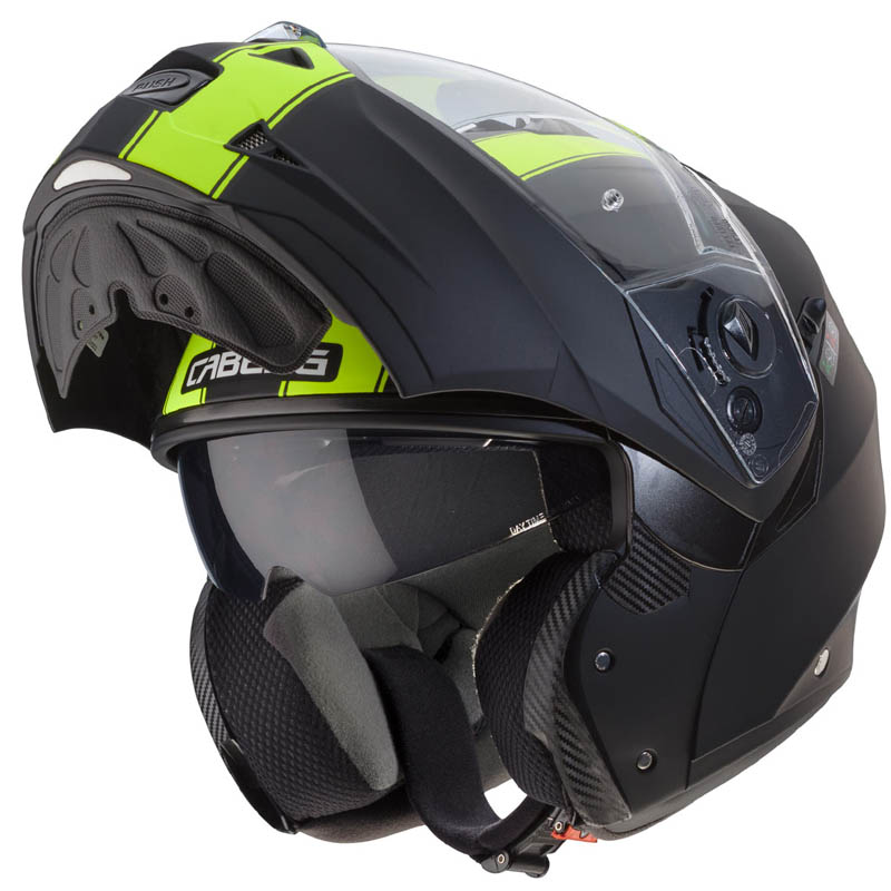 Casco CABERG DUKE II Legend NegroAmarillo mate